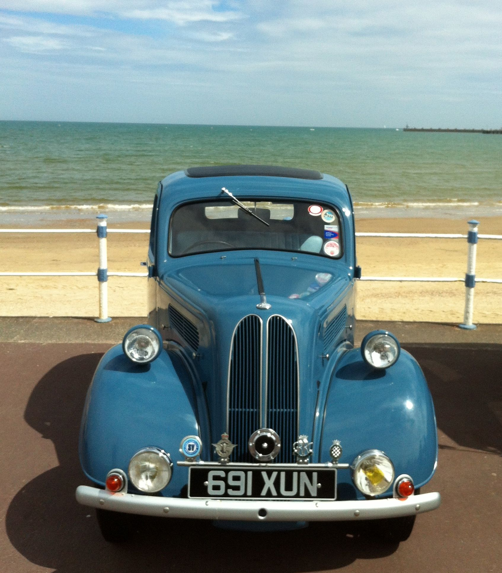 Vintage Cars On The Beach In Weymouth June Holiday