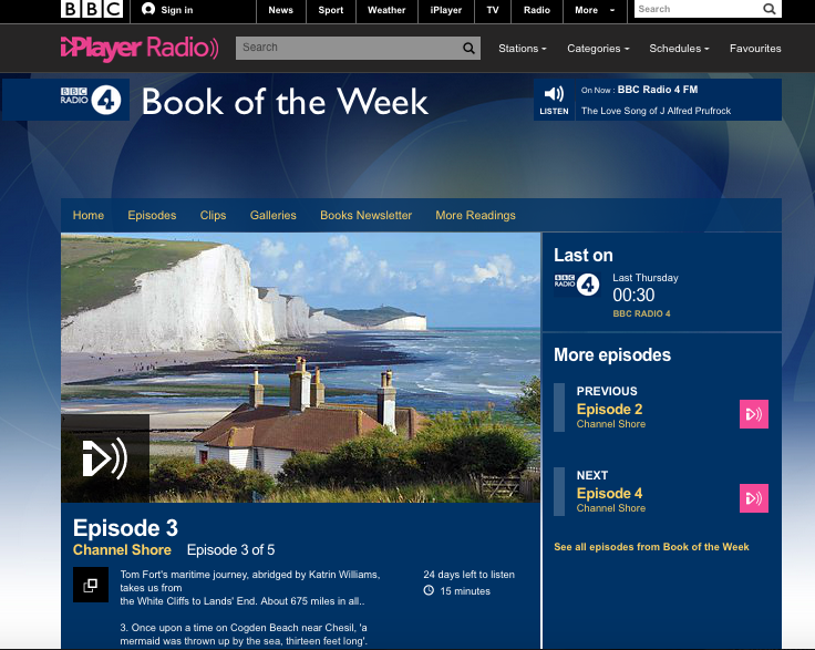 Radio 4 book - Weymouth